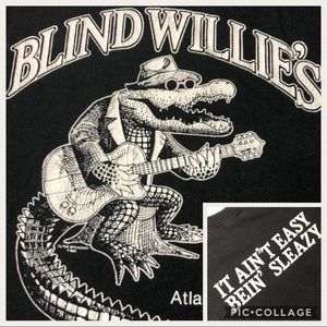Vtg BLIND WILLIES - Being Sleazy Saloon T Shirt